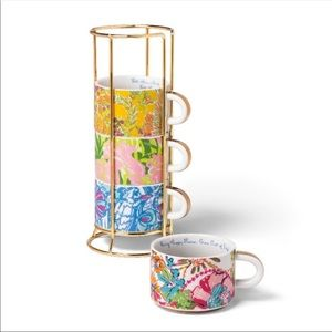 Lilly Pulitzer X Target Stacking Espresso Mugs